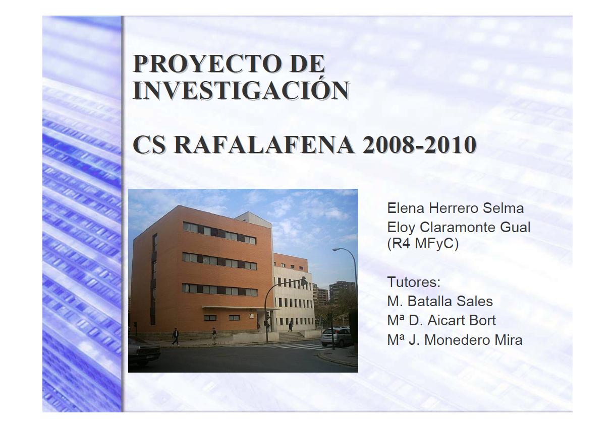 Proyecto final de residencia Eloy Claramonte/Elena Herrero (2007/2010 ...