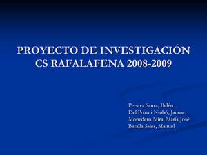 Proyecto Belén/Jaume