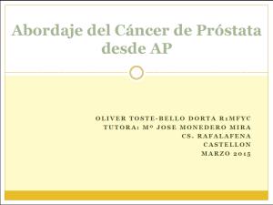 detección del cáncer de próstata acss